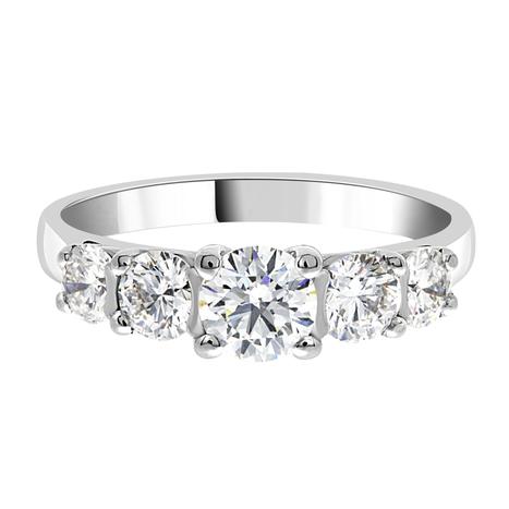 Nina Multi Stone Engagement Ring - Loyes Diamonds 5 stone ring in gold | Engagement Rings Dublin. | Scoop.it
