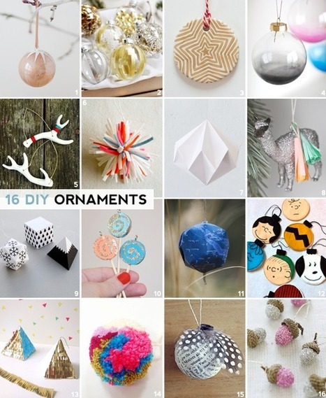 HEY LOOK: 16 DIY HOLIDAY ORNAMENTS | Du fait main & some handmade | Scoop.it