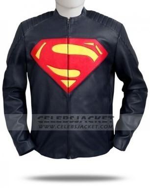 Black Superman Man Of Steel Costume Leather Jacket   Celebsjacket.com   Scoop.it