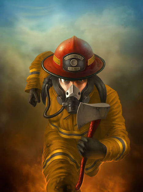 Create an Awesome Firefighter in Action Painting Using Photoshop | The Official Photoshop Roadmap JournalP | Scoop.it