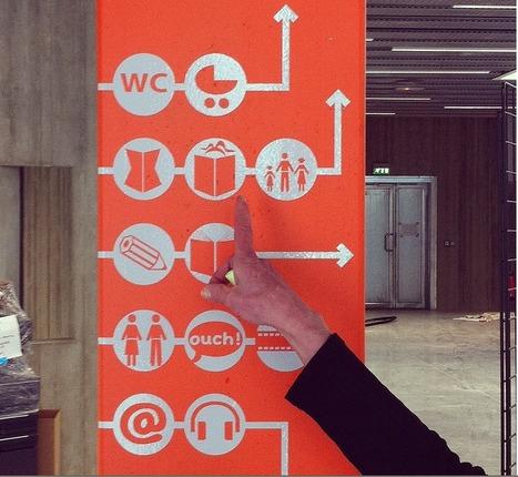 Signalétique en bibliothèques [Crieurs Publics ]   Architecture et bibliothèque   Scoop.it