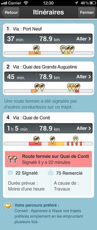 Waze 3.6 inclut la première solution crowd-sourcée en temps réel pour aider les conducteurs à naviguer autour des fermetures de routes et arriver là où ils doivent aller   Geeks   Scoop.it