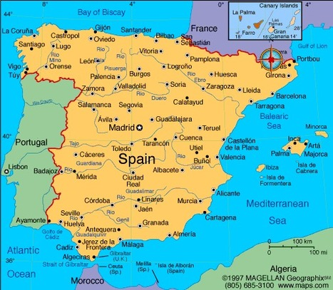 map of country | Spain, Mara Hoyle | Scoop.it