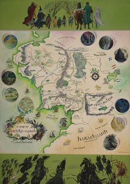 Tolkien annotated map of Middle-earth acquired by Bodleian library | Libraries, Museums, Bookstores | Scoop.it