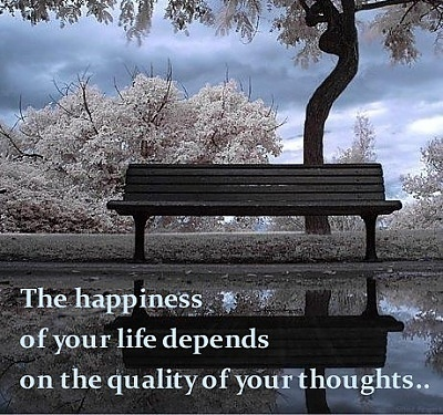 The happiness of your life depends on the quality of your thoughts. | FeedYourMind | Scoop.it