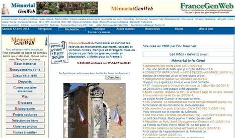 MémorialGenWeb reçoit le label Centenaire 1914-1918 | Nos Racines | Scoop.it