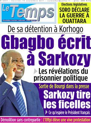 De sa détention à Korhogo : Gbagbo écrit à Sarkozy | Actualités Afrique | Scoop.it