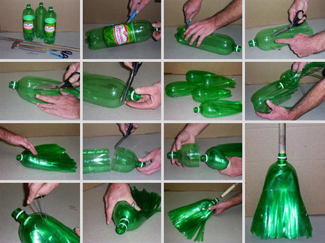 Upcycling - Escoba hecha de botellas de plástico | Transición | Scoop.it
