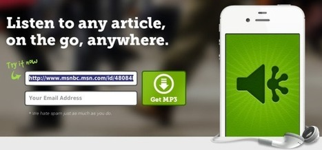 Turn Any Article Into a mp3 with SoundGecko | ciberpocket | Scoop.it