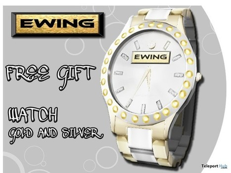Gold Silver Watch by EWING | Teleport Hub - Second Life Freebies | Second Life Freebies | Scoop.it