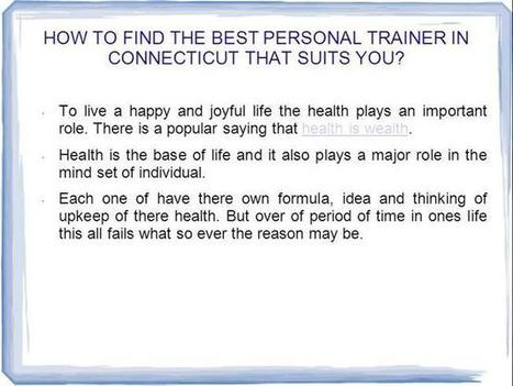How To Help Personal Trainer CT   Health   Scoop.it