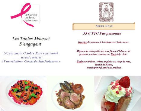 Octobre Rose Chez Françoise, engageons nous ensemble !   Gastronomie Française 2.0   Scoop.it