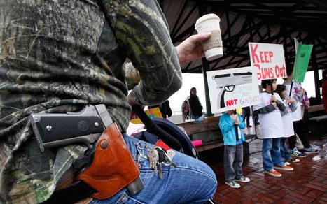 Gun bullying? Gun-toting protesters deny intent is to intimidate | Al Jazeera America | alyssa | Scoop.it