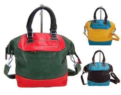 !@#   HERISSON FIRENZE Damen Handtasche, Bowling-Bag, 3 Farben: curry gelb-petrol, jungle grün-rot oder schwarz-petrol, Farbe:schwarz | Clutch Bags Online | Scoop.it