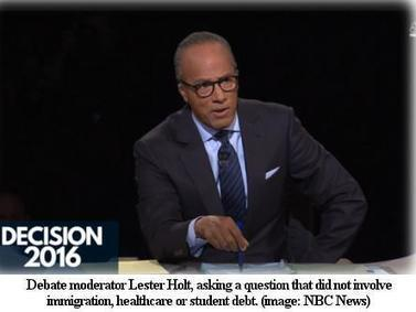 Debate Moderator Lester Holt Asks Zero Questions About Poverty, Abortion, Climate Change | Black Agenda Report | Global politics | Scoop.it