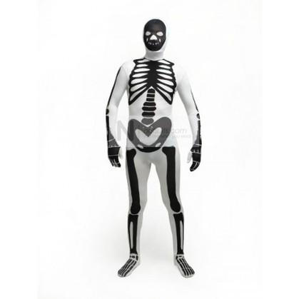 Skeleton Zentai Suit in White   Nefsuits   Scoop.it