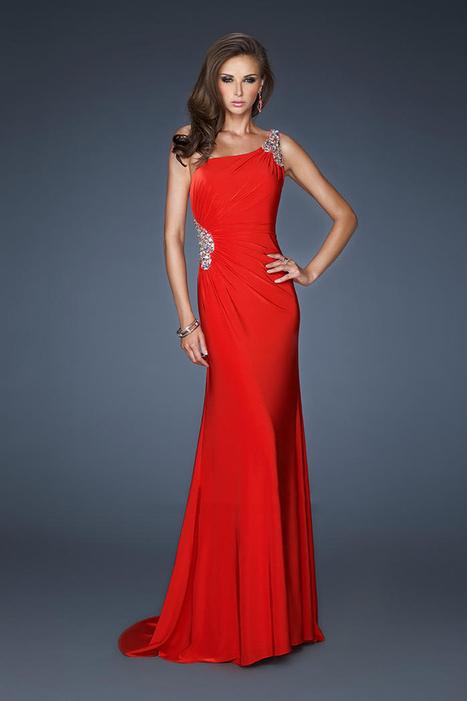 La Femme 18960 One Shoulder Red Long Open Back Prom Dresses [La Femme 18960] - $175.00 : La Femme Outlet, 60% Off La Femme Sale Online | gownprincess | Scoop.it