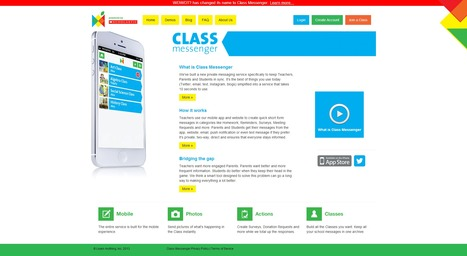 Class Messenger | Private messaging service specifically to keep Teachers, Parents and Students in sync | Time to Learn | Scoop.it