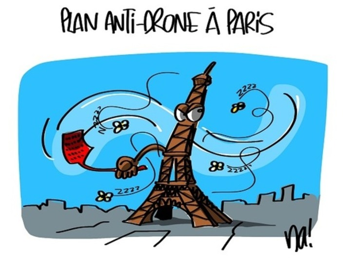 Paris met en place un plan anti-drone | Baie d'humour | Scoop.it