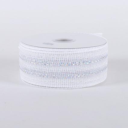 White Silver Laser Metallic Mesh Ribbon 25 Yards | FuzzyFabric | Scoop.it