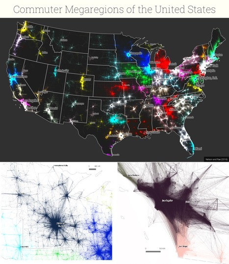America's 'Megaregions' using Commuter Data | Geography Education | Scoop.it