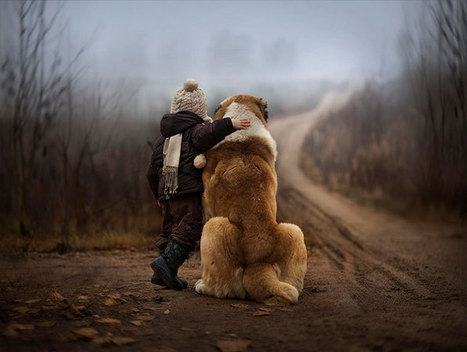 Russian Mother Takes Magical Pictures of Her Two Kids With Animals On Her Farm | AB Design Fotos | Scoop.it