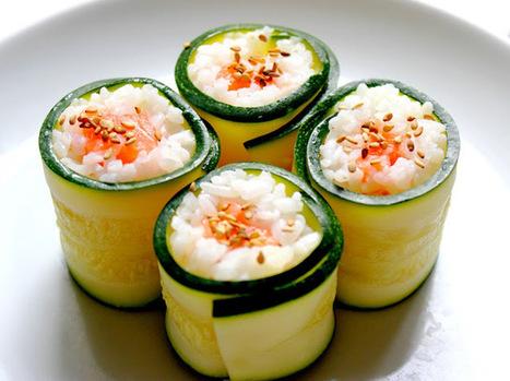 Invitations aux voyages culinaires: C91 - Courgette Maki | SUSHIJU | Scoop.it