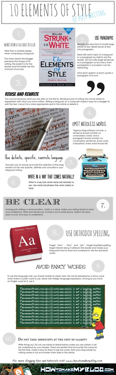 10 Elements Of Style Of Post Writing | Creative Writing | Scoop.it