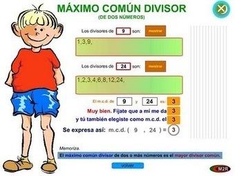 Blog de Matemáticas: Múltiplos y divisores. Máximo común divisor y mínimo común múltiplo.   Mínimo Común Múltiplo y Máximo Común Divisor   Scoop.it