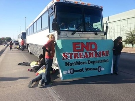 DEVELOPING STORY: Immigration Activists in Tucson Block Deportation Buses | Illegal Immigration | Scoop.it