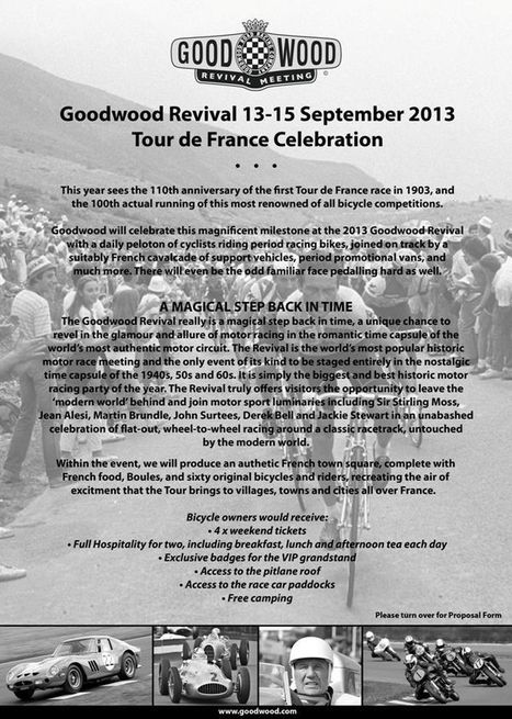 Classic Bike and Rider Peloton for Goodwood | Classic Steel Bikes | Scoop.it