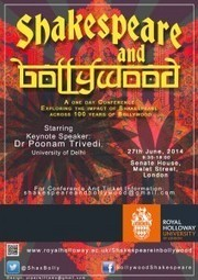 Shakespeare and Bollywood conference · British Universities Film & Video Council | Global Shakespeare | Scoop.it