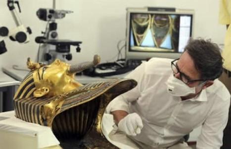 Vea las imágenes de como se está restaurando la máscara funeraria de Tutankamón | La Mula (Pérou) | Kiosque du monde : Amériques | Scoop.it