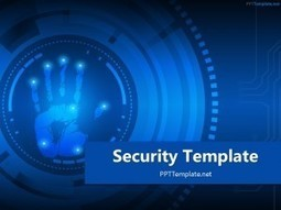 Free Security Palm Print PPT Template | PowerPoint presentations and PPT templates | Scoop.it