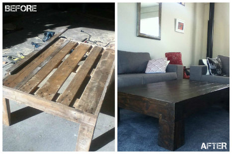 Antique Looking Pallet Coffee Table | diy projects | Scoop.it