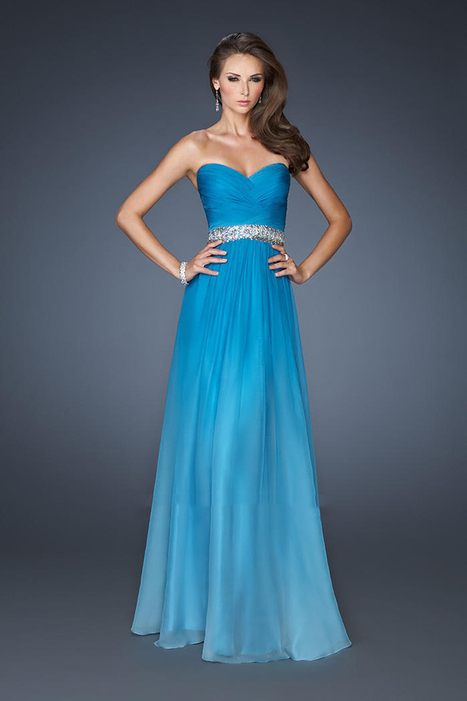 Strapless La Femme 18486 Stunning Ombre Chiffon Turquoise Prom Dresses [Ombre Chiffon Turquoise Prom Dresses] - $170.00 : La Femme Outlet, 60% Off La Femme Sale Online | gownprincess | Scoop.it