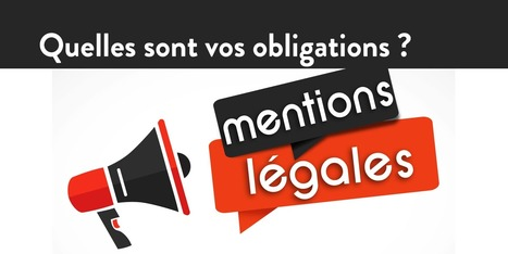 Mentions légales & site internet > Quelles sont vos obligations ? | AntheDesign | Scoop.it