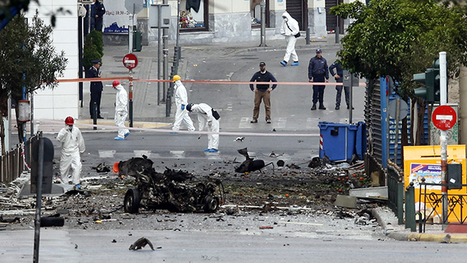 Car bomb explodes outside Bank of Greece in Athens   Saif al Islam   Scoop.it
