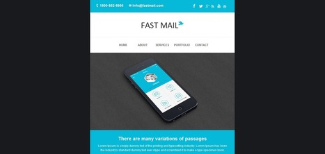 35+ Newsletter Marketing HTML Email Templates   Web Design   Scoop.it