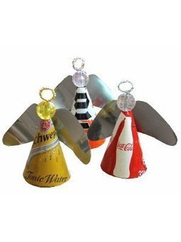 Recycled Drink Can Angels | Recycled Crafts | Scoop.it