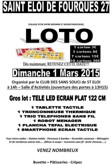 Loto dans la salle d'activités le dimanche 1er mars à 14 h 00 | Haute-Normandie | Scoop.it