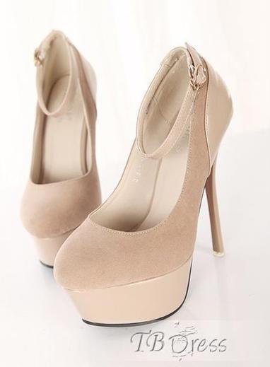 Gorgeous Split Joint Stiletto Heels Apricot Shoes | beauty girl | Scoop.it