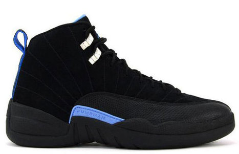 Jordan 12 (XII) Retro-Black/White-University Blue Nike Mens Size Basketball Shoes | new and share list | Scoop.it