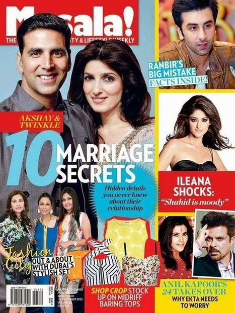 Akshay And Twinkle On Magazine Cover - Masala Magazine - 99share.in | Photoshoot | Scoop.it