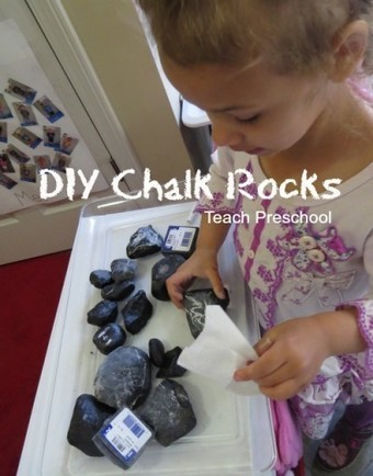 DIY chalk rocks for preschool | Learn through Play - pre-K | Scoop.it