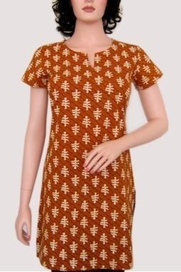 Alpine® Online Store | Buy Yellow Cotton Printed Half Sleeves Kurti Online @Rs135.00 | KURTIS | Scoop.it