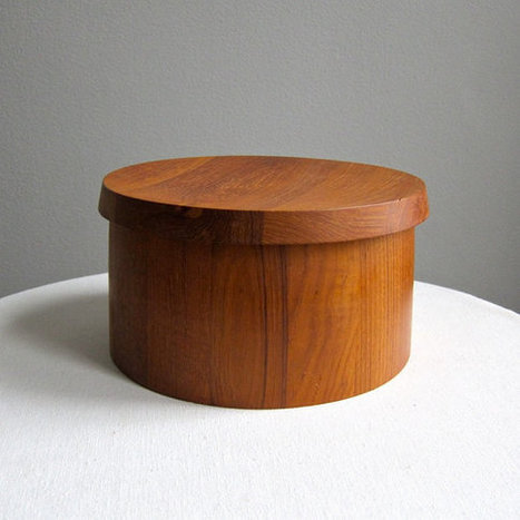 Vintage Dansk Staved Teak Ice Bucket | Vintage living | Scoop.it