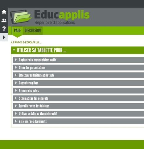Educapplis : un répertoire d'applications pour tablettes | mlearn | Scoop.it