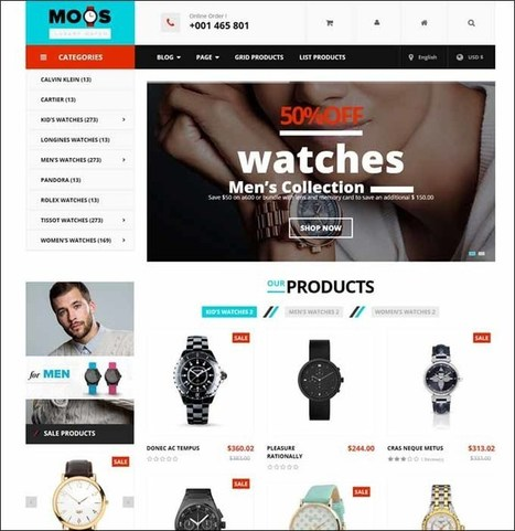 Vina Moos Premium Responsive Joomla Template for Watches Store | Designrazzi | Scoop.it