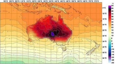 Australia Adds New Colors to Weather Forecasting Chart as Temperatures Skyrocket | Geog 400- Regional Gography | Scoop.it